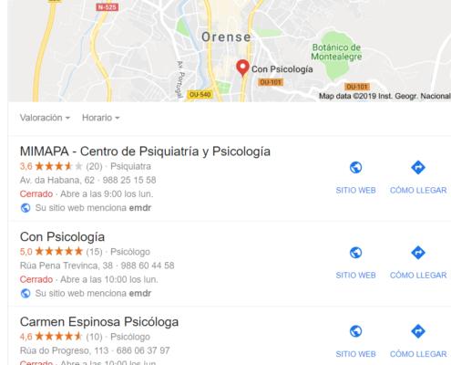 Posicionamiento en Google My Bussines